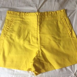 J.Crew Factory high waisted ruffle shorts, size 6